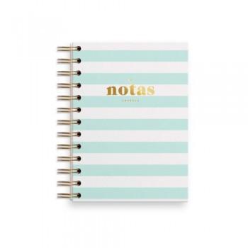 Cuaderno mini mint. Puntos. Charuca