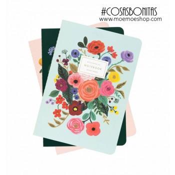Set de 3 cuadernos- Lively Floral- Rifle Paper Co