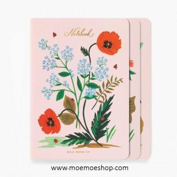 Set de 3 cuadernos- Botanical- Rifle Paper Co