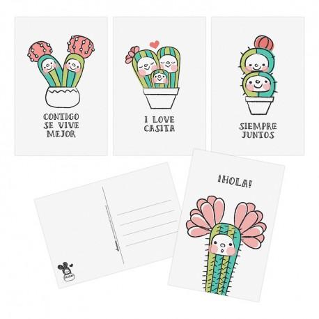 Sets de Postales Cactus
