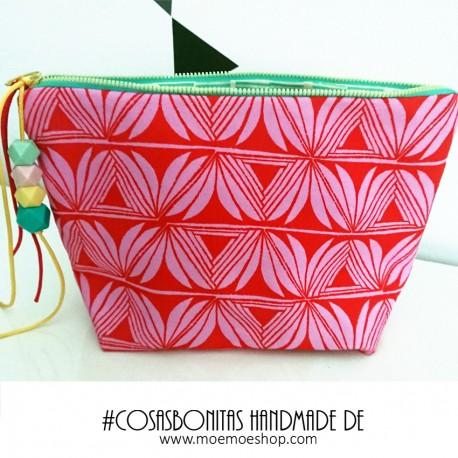 Portatodo Handmade Estampado Rosa y Verde